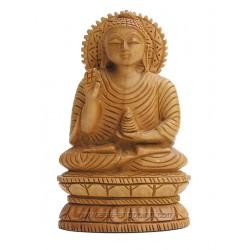 Statuette de Bouddha en bois