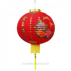 Lampion chinois Ø40cm Bonheur et Richesse