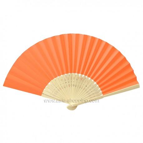 Éventail en papier orange