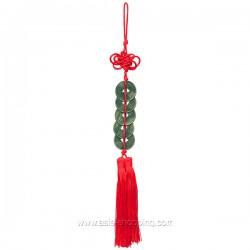 Porte-bonheur pièces chinoises