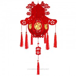 Décoration lanterne chinoise fleurs à monter